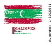 maldives happy independence day ...   Shutterstock .eps vector #1452030551