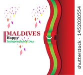 maldives happy independence day ...   Shutterstock .eps vector #1452030554