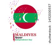 maldives happy independence day ...   Shutterstock .eps vector #1452030557