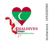 maldives happy independence day ...   Shutterstock .eps vector #1452030584