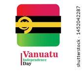 banner or poster of vanuatu...   Shutterstock .eps vector #1452042287