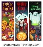 halloween party pumpkin  scary... | Shutterstock .eps vector #1452059624