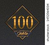 german golden number one... | Shutterstock .eps vector #1452064034