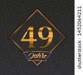 german golden number forty nine ... | Shutterstock .eps vector #1452064211