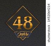 german golden number forty... | Shutterstock .eps vector #1452064214