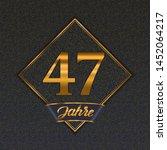 german golden number forty... | Shutterstock .eps vector #1452064217