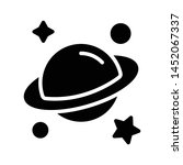 universe glyph flat vector icon | Shutterstock .eps vector #1452067337