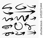 set of arrow hand drawn design... | Shutterstock .eps vector #1452071444