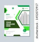 annual report brochure flyer... | Shutterstock .eps vector #1452072917
