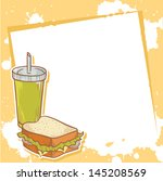 advertisement invitation card... | Shutterstock .eps vector #145208569