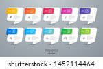 infographics design paper art... | Shutterstock .eps vector #1452114464