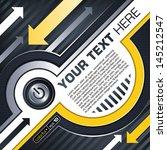industrial techno style  arrow  | Shutterstock .eps vector #145212547
