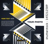 industrial techno style  arrow  | Shutterstock .eps vector #145212589