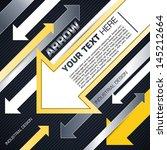 industrial techno style  arrow  | Shutterstock .eps vector #145212664
