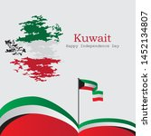 kuwait independence day  can be ... | Shutterstock .eps vector #1452134807