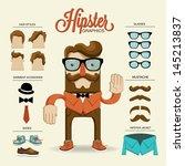 hipster character  vector... | Shutterstock .eps vector #145213837