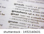 Small photo of Word or phrase Gnashers in a dictionary