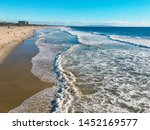 summertime on the beach of the ... | Shutterstock . vector #1452169577