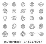 simple set of globe related... | Shutterstock .eps vector #1452175067