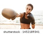 image of athletic pretty woman...   Shutterstock . vector #1452189341