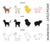 vector design of breeding and... | Shutterstock .eps vector #1452194264