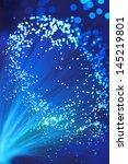 close up of blue fibre optics | Shutterstock . vector #145219801
