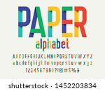 paper folding origami style... | Shutterstock .eps vector #1452203834