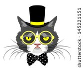 animal,art,beautiful,bow,bow tie,card,cartoon,cat,character,child,circus,cylinder,decorative,detail,element