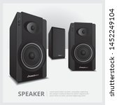 loud speakers isolated vector...   Shutterstock .eps vector #1452249104