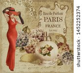 Vintage Poster With Beautiful...