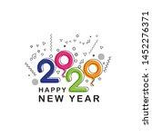happy new year 2020 logo text...   Shutterstock .eps vector #1452276371