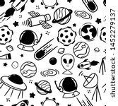 space doodles seamless pattern... | Shutterstock .eps vector #1452279137