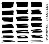 vector black paint  ink brush... | Shutterstock .eps vector #1452281321