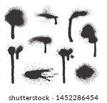 black ink splatters. ink blots... | Shutterstock .eps vector #1452286454