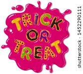 halloween gingerbread cookies.... | Shutterstock .eps vector #1452290111
