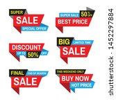 sale tag vector badge design.... | Shutterstock .eps vector #1452297884