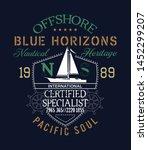 offshore sailing regatta...   Shutterstock .eps vector #1452299207