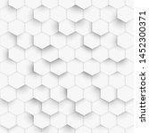 hexagon geometric white texture ... | Shutterstock .eps vector #1452300371