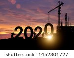 Small photo of Silhouette staff works as a team to prepare to welcome the new year 2020