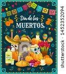 dia de los muertos altar with... | Shutterstock .eps vector #1452352094