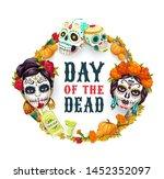 dia de los muertos  day of dead ... | Shutterstock .eps vector #1452352097
