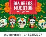 day of dead mexican dia de los... | Shutterstock .eps vector #1452352127