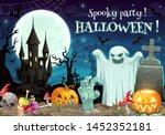 halloween spooky party on... | Shutterstock .eps vector #1452352181