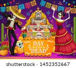 day of the dead mexican holiday ... | Shutterstock .eps vector #1452352667
