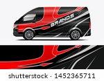 company car wrap. wrap design... | Shutterstock .eps vector #1452365711