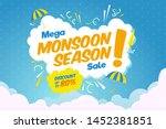 creative sale banner or sale... | Shutterstock .eps vector #1452381851
