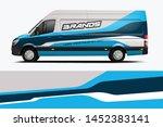van wrap livery design. ready... | Shutterstock .eps vector #1452383141