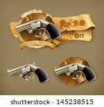 gun  retro icon | Shutterstock .eps vector #145238515