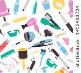 beauty salon vector seamless...   Shutterstock .eps vector #1452433724