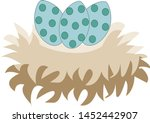 a 3 green easter eggs on the... | Shutterstock .eps vector #1452442907